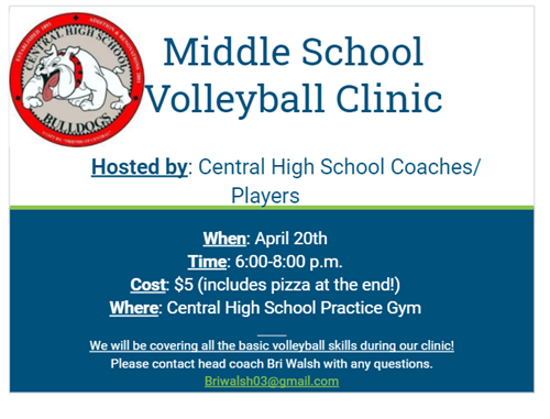 Middle School Volleyball Clinic