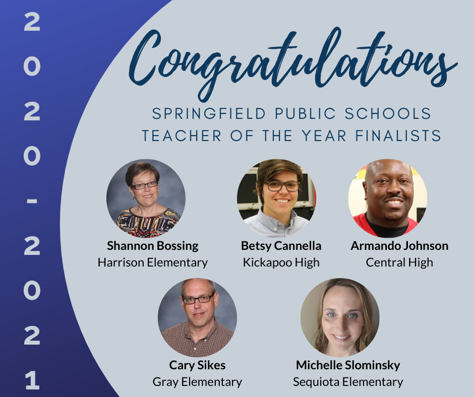 2020-2021 Teacher of the Year Finalist Named