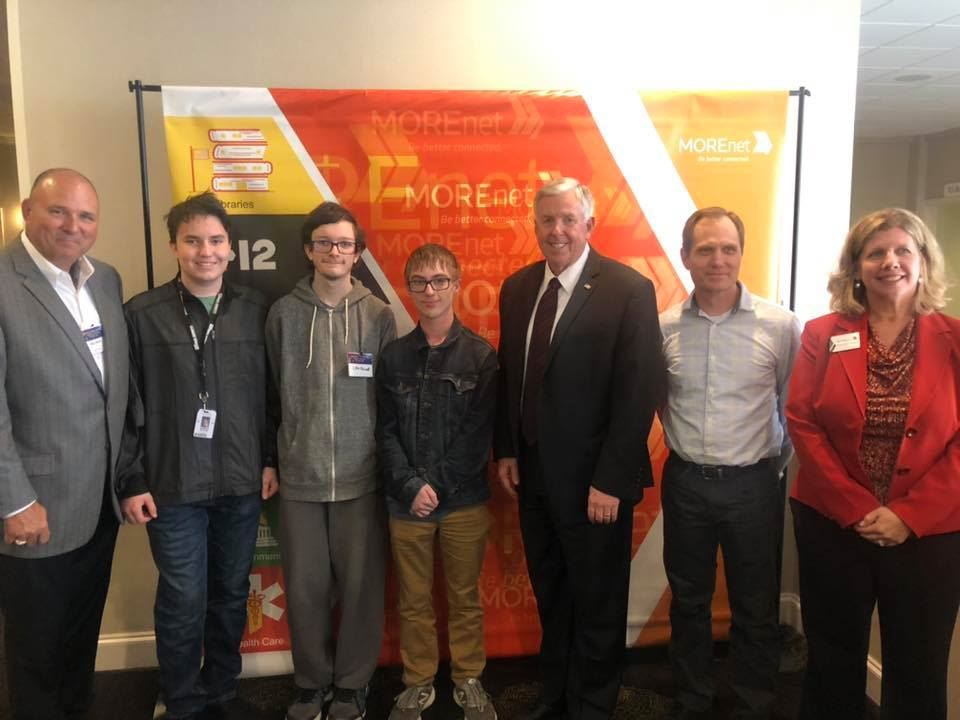 Cyber Security team with Governor Parson