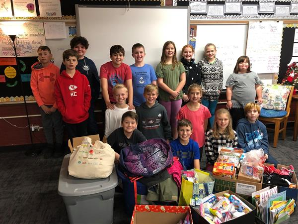 Field fifth-graders lead resource drive for Springfield's homeless