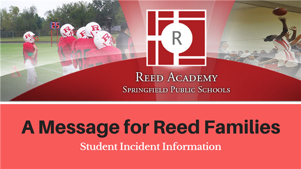 A Message to Reed Families