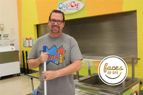 Faces of SPS: Meet Chris Cole, head custodian at Disney Elementary