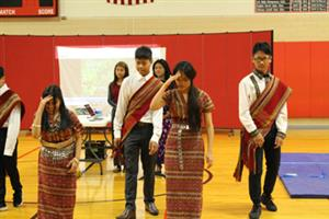 Chin students dancing