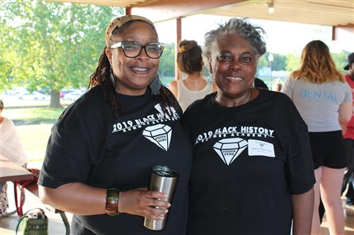 Gwen Marshall and Shurrita at Park Day celebration