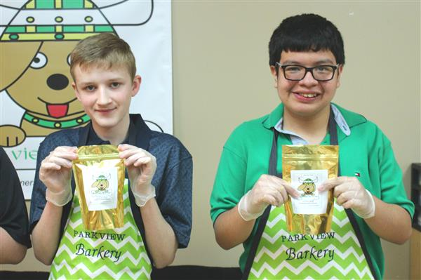 Parkview Barkery provides hands-on learning for special education students and their DECA student mentors