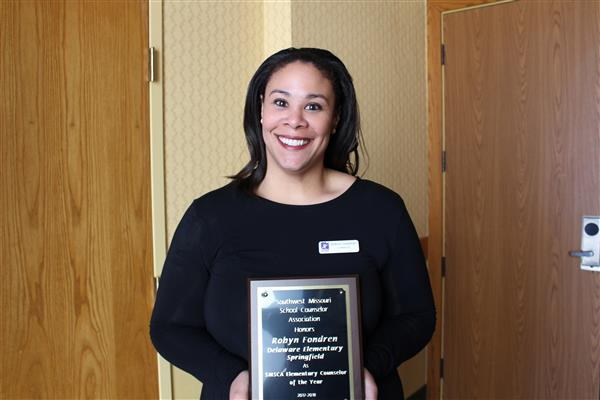 Delaware counselor named Elementary Counselor of the Year by regional association
