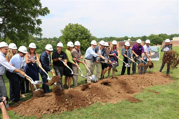 Groundbreaking happens at Early Childhood Center