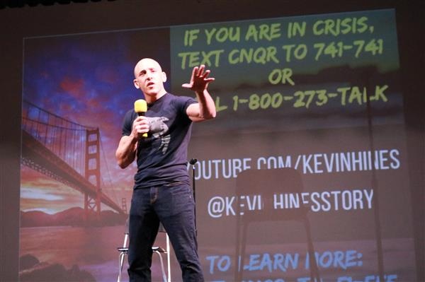 SPS freshmen hear from suicide prevention advocate Kevin Hines