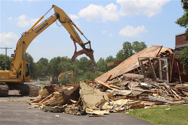 Demolition begins at Delaware