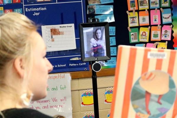 Traveling robot allows kindergartner to attend classes at Delaware Elementary