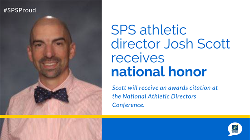 SPS athletic director Josh Scott receives national honor
