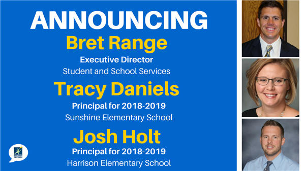 New leaders announced for 2018-2019 school year