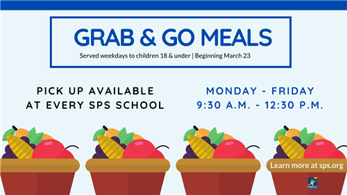 Grab & Go Meals Served weekdays to children 18 and under beginning March 23