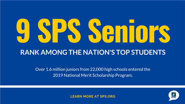 Nine SPS students named National Merit Scholar semifinalists