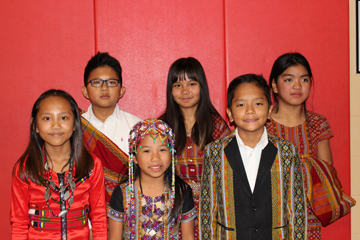 Chin elementary students