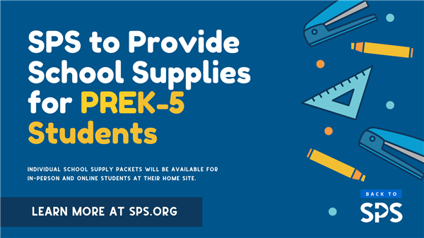 SPS to provide school supplies for all PreK-5 students