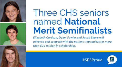 Three CHS semifinalists in the 2020 National Merit Scholar contest