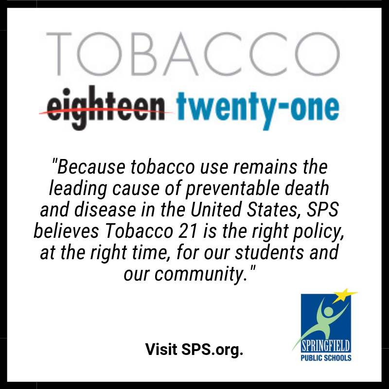 SPS Issues Statement of Support for Tobacco 21 Act