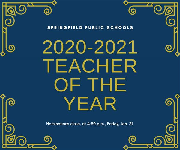 Nominations are now open for 2020-2021 Teacher of the Year
