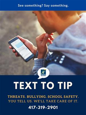 Text to Tip Hotline 417-319-2901