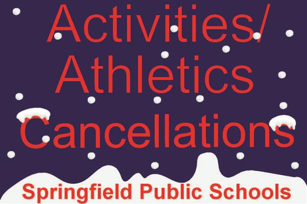 Activity and event cancellations