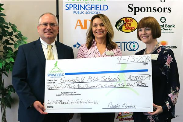Foundation for Springfield Public Schools awards $239,157 in Back to School grants to SPS teachers