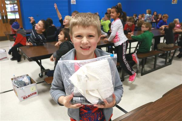 Bingham first-graders create hygiene kits for Convoy of Hope