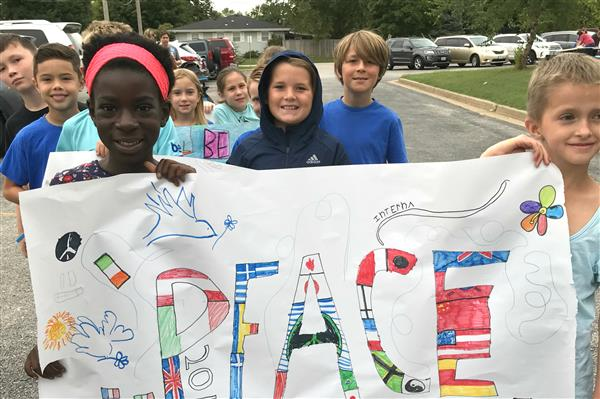 Field Elementary students celebrate International Day of Peace