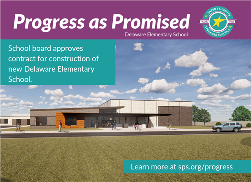 School board approves contract for construction of new Delaware Elementary School.