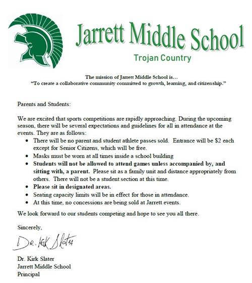 Athletic Event Expectations for Parents and Students