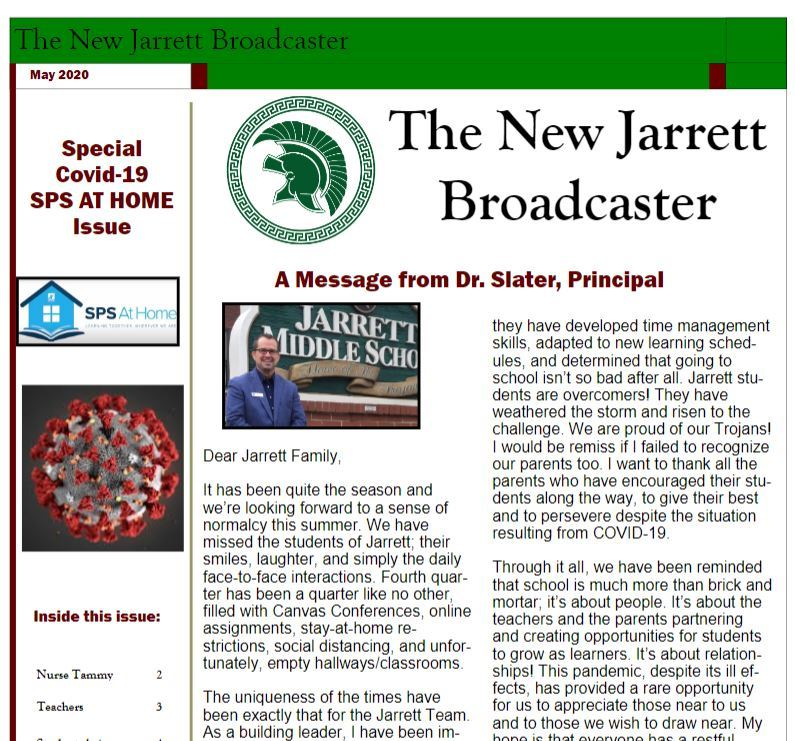 Jarrett Broadcaster Covid-19 Issue