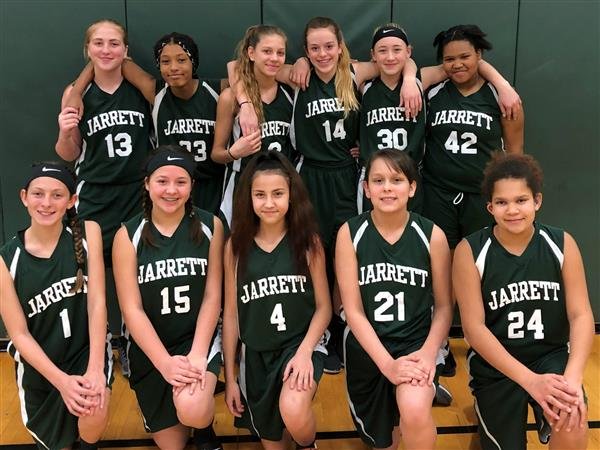 Jarrett 7th Grade Girls Basketball Team 2nd in City!