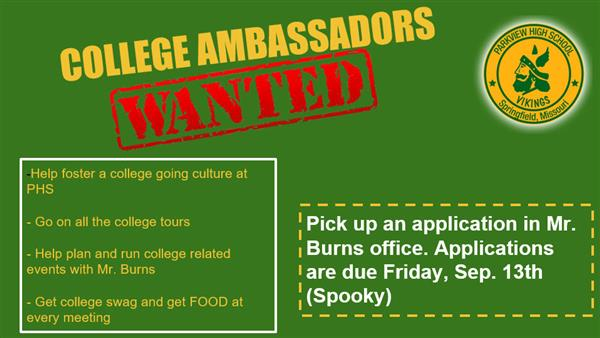 Wanted: Parkview College Ambassadors