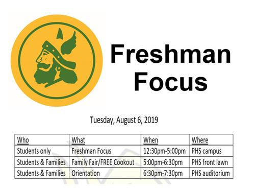 Freshman Focus -Tuesday, August 6th