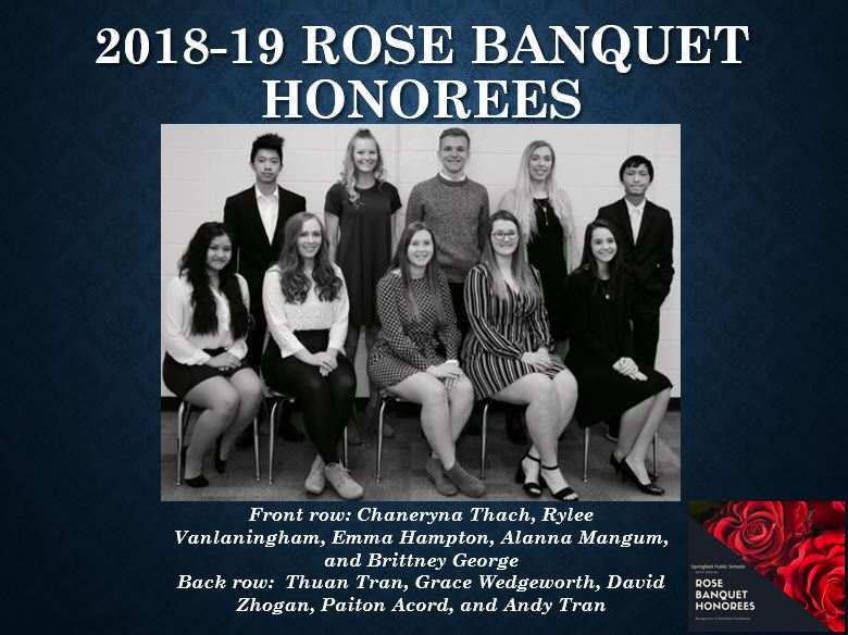 2018-2019 ROSE Banquet honorees
