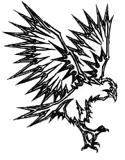Robberson School Logo - Red Hawk